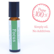 Focus Essential Oil Blend Roll-On Bottle by Simply Earth - 10ml, 100% Pure Therapeutic Grade