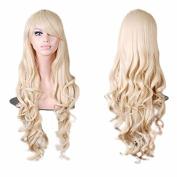 JieFar Curly Cosplay Long Hair Heat Resistant Spiral Costume Wigs