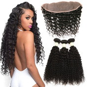 Ms Taj 3 Bundles with Frontal Closure Brazilian Hair Deep Wave with 134 Closure 7A Unprocessed Virgin Human Hair Extensions