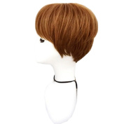 DAYISS Women's Short Bob Straight Full Wig Cosplay Heat Resistant Glamour Daily