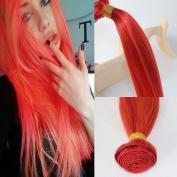 100% virgin remy human hair bundles colourful straight hair weave 100g/bundle