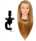 Zvena Beauty 80cm Cosmetology Mannequin Manikin Training Head Synthetic Fibre with Clamp - PEGGY