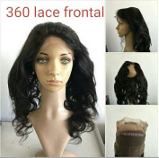 Quercy Hair 360 Lace Band Frontal Body Wave Remy Human Hair with Natural Hairline for Black Women Natural Colour
