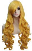 Diforbeauty 80cm Long Curly Cosplay Wig Heat Resistant Hair Spiral Costume Wigs