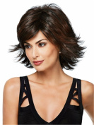Women Wigs Dark Brown Short Curly Natural Heat Resistant Synthetic Hair Wigs 30cm