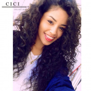 Cici Collection Unprocessed Brazilian Fashion New Style Deep Curly Wigs for Black Women Glueless Lace Wigs 130% Density Human Hair Lace Front Wigs with Baby Hair