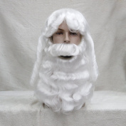 StrongBeauty Adult White Santa Claus Wig and Beard Set Christmas Costume Fancy Dress