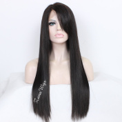ZANA Cheap 7A Grade Brazilian Virgin Wigs Human Hair Lace Front wig Silky Straight Black Colour Wigs Glueless Full Lace Front Wigs
