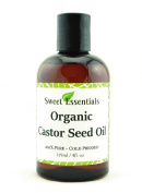 Premium Organic Castor Seed Oil | Imported From India | 120ml | Hexane Free | Excellent For Hair Growth | Eyebrow - Eyelashes | Skin Moisturising