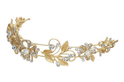 Rosemarie Collections Women's Fancy Crystal Floral Bridal Ribbon Headband
