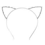 SelfTek Cat Ears Hair Band Crystal Headband for Fancy Dress Costume Cosplay
