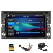 Free HD rear camera+win 8 UI 2 din car stereo radio 16cm universal Car GPS cd dvd player TFT touch screen HD screen 800*480 Support Bluetooth USB/TF card User-Friendly Interface-Remote Control