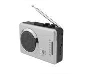 DigitNow! Mini Stereo Audio Retro Personal Cassette Player Wireless AM/FM Radio and Voice Radio Cassette Recorder with Earphones