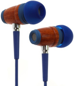 Symphonized Kids Volume Limited Premium Wood In-ear Noise-isolating Headphones|Earbuds|Earphones with Microphone
