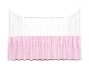Tadpoles Crib Skirt Classic Gingham, Bright Pink