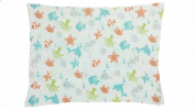 BB MY BEST BUDDY Toddler Pillowcase - 100% cotton - Ocean Animals for your kids - 13 x 18 shrinks to fit -envelope style closure - designed in the USA