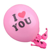 Da.Wa 100 pcs Latex Balloons 'I love you' Round Balloons Wedding Room Layout Balloon Toys Wedding Decoration