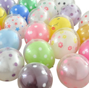 Da.Wa 100 pcs Double Bubble Balloons Latex Balloons Round Balloons Wedding Room Layout Balloon Toys Party Decoration