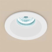 HIB Calibre Cool White Round LED Ceiling Shower Light 8W Spotlight IP65 Zone 1