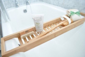 Wooden Bridge Slim Bath Caddy made from Natural Bamboo - Perfect Shelf Unit for any Bathroom