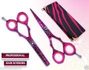13cm 14cm 15cm Professional Hairdressing Barber Razor Edge Hair Cutting Salon Shears / Scissors Japanese Steel Pink Zebra