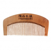 FTXJ Natural Health Retro Peach Wooden Mahogany Hair Comb