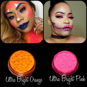 "New Eyeshadow Pigment Myo Ultra Bright Matte ""Ultra Bright Pink"" & ""Ultra Bright Orange"" Mica Cosmetic Mineral Makeup 3 Gramme Small Size"
