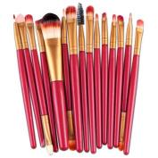 NOMENI 15pcs Makeup Brush Set tools Make-up Toiletry Kit Wool Make Up Brush Set