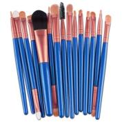 NOMENI 15 pcs Makeup Brush Set tools Make-up Toiletry Kit Wool Make Up Brush Set