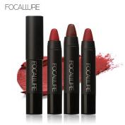 New Lipstick! Elevin(TM) 3PCS Fashion Women Ladies FOCALLURE Waterproof Long-lasting Red Velvet Matte Colour Pencil Lipstick Crayon Makeup Set