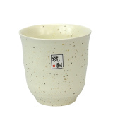 Japanese Ceramic Cup - for Sake, Rice Wine or Green Tea, Speckled Cream Stoneware
