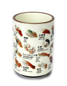 Japanese Ceramic Sushi Cup - for Sake, Rice Wine or Green Tea. Single Cup.