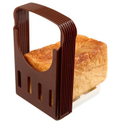 Waterstone Foldable Bread Slicer, Baking Loaf Toast Cutter Even Slices