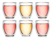 Creano 254 Thermal Glass Deco B, 250 ml Set of 6, Glass, Clear, 18 x 9 x 9.5 cm