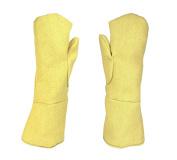 46cm Heat Resistant Kevlar Mittens for Precious Metal Casting Metal Melting Refining Safety Gear Equipment