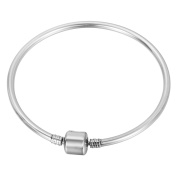 VALYRIA Stainless Steel European Beads Charm Bracelets Starter Master with Clasps 20cm