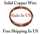 By Copper wire USA -18 Ga 7.6m Solid Round Copper Wire Coil - Dead Soft