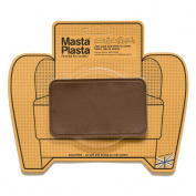 MastaPlasta, Leather Repair Patch, First-Aid for Sofas, Car Seats, Handbags, Jackets, Plain, Mid Brown Medium Stitch 10cm x 6.1cm