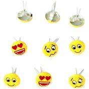 Eyelet Outlet Shape Brads 12/Pkg-Mini Emotion