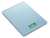 Exzact EX9150 Super Slim (1.4 CM) Electronic Kitchen Scale / Food Weighing Scale / Digital Scale - Tempered Glass Platform - Touch Button - Battery Included - 5kg/11lb