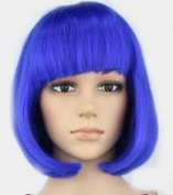 Mermaid Short Straight Hair Wig Flapper Bob Heat Resistant Candy Colour Wigs Natural As Real Hair, Fashion for Cosplay Party Halloween Christmas