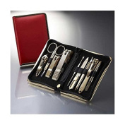 World No. 1, Three Seven 777 Travel Manicure Pedicure Grooming Kit Set (Total 9 PC, Model