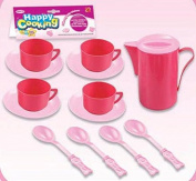 Kids Cooking Chef Kitchen Playset Toys   Cups   Plates   Spoons   Jug   Tableware Appliances Pretend Play Set