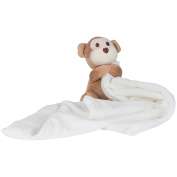 Mumbles Baby Boys/Girls Plush Monkey Comforter Blanket (One Size)