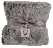 Max Daniel Chinchilla Fluff Baby Throw - Double Sided- Piped Edge 1180