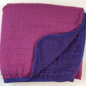 Bambino Land Double Layer Swaddle Blanket - Berry & Purple