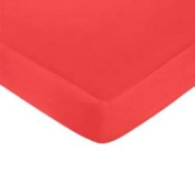 Jersey Knit Crib/Toddler Sheet,Colour:Red