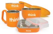Bento Box, Soup Bowl, Baby Bowl, Kids Cup Feeding Set in Blue