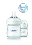 Philips AVENT BPA Free Natural Polypropylene Bottle, 120ml, 2 Pack