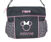 Disney Minnie Mouse Nappy Bag & Changing Pad , Lightweight Travel Tote, Baby Bottle Pockets